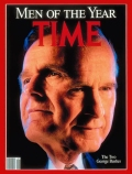121708 Bushes 1990 Person of the Year