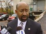 Mayor Nutter Talks to Media After City Budget Address