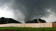 Raw: Massive Funnel Clouds in Oklahoma