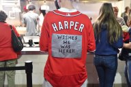 Nationals Poised for Trip to World Series ... So Fans Are Celebrating Bryce Harper's Absence?