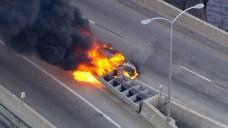 Car Fire Shuts Down Roosevelt Boulevard Near I-76