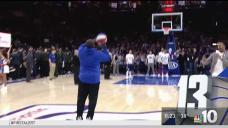 Half-Court Shot Wins Free Chicken for Arena