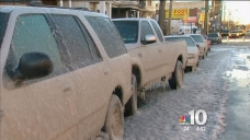 Water Main Break Combines with Cold, Makes Icy Mess
