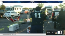 Tailgate Parties Underway Outside the Linc