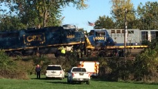 Officials: Four Injured in Head-On Train Crash