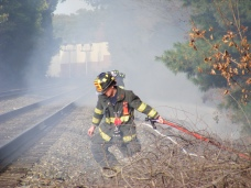Mystery Work Train Sparks Brush Fires, Authorities Suspect