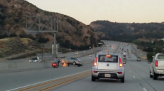 Road Rage: Motorcyclist Kicks Sedan, Sparks Chain-Reaction...
