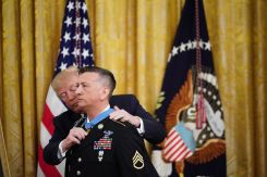 President Donald Trump Gives Medal of Honor to First Living Iraq War Veteran