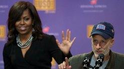 Obamas, Bidens Open USO Military Comedy Show
