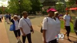 Dozens 'Walk for Fitness' Along Kelly Drive