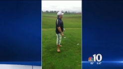 NBC10's Vai Sikahema Golfs Barefoot on the Warmest Christmas Eve Ever