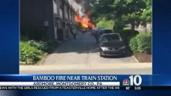 Bamboo Fire Breaks Out Near Montco Train Station