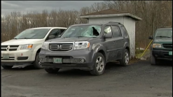 73-Year-Old Driver Hurt When 'Ice Missile' Hits Car