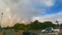 Double Rainbows Seen After Strong Storms