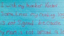 """""""I Wish My Teacher Knew..."""""""