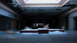 Abandoned Mall Becomes a Winter Wonderland