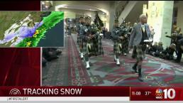 Army Navy Fans Ready for Snow in Philadelphia