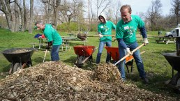 Comcast Cares Day Volunteers Clean Up Bartram's Garden