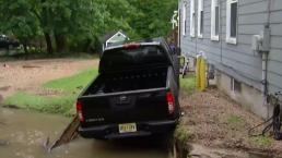 New Jersey Flooding Causes Sinkhole That Swallows Up Pickup