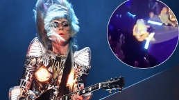 Lady Gaga Plummets Off Stage in Fan's Arms at Vegas Show