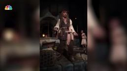 Johnny Depp Surprises Disneyland Guests in Full Costume