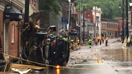 Floods Crush Cars, Destroy Streets in Ellicott City, Md.