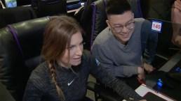 Julia Mancuso Tries South Korea's Most Popular Sport