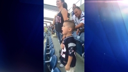 VIRAL VIDEO: Boston Police Officer's Son Sings National Anthem at Pats Game