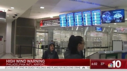 Strong Winds Impacting Flights at Philly Airport