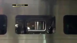 Close-Up Video of Crashed NJ Transit Train