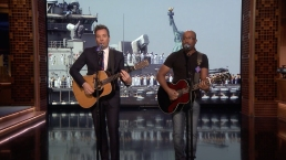 "'Tonight': Rucker and Fallon ""Only Wanna Thank the Troops"""