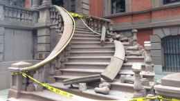 Man Steals Railing Outside Union League Causing Collapse