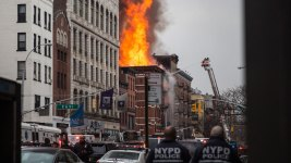 NYC Building Collapses, Sparks Fire After Explosion