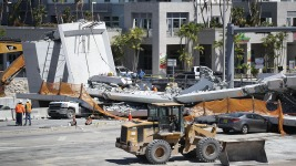 Vigil for Florida Bridge-Collapse Victims Draws Tears