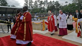 Pope Francis Visits Anglican Shrine in Uganda