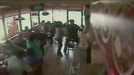 """Ghost Wheel"" Bounces Through Restaurant Window"