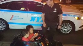 Ticketed Tots: NYPD Pulls Over Adorable Toddler Twins