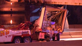 Truck Splits in Half on Schuylkill Expressway