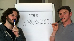 "Edgar Wright, Simon Pegg and Nick Frost Plotting ""World's End"""