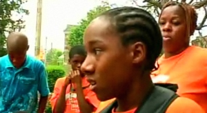 "Dymire Baylor says he overheard a woman ask, ""What are all these black kids doing?"" when he and his freinds showed up."