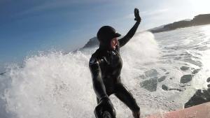 Julia Mancuso Surfs the Frigid Waters of South Korea