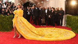 RAW VIDEO: Rihanna's Train Steals the Show at Met Gala