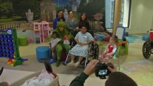 'Grinch' Visits Children at Delaware Hospital