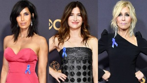 Why the Stars Are Wearing Blue Ribbons at the 2017 Emmys