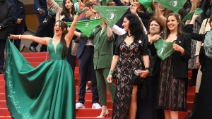 Abortion Rights Demonstration Held on Cannes Red Carpet