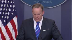 Spicer Reads Statement on Recent Anti-Semetic Acts