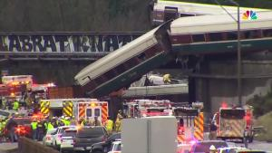 RAW VIDEO: Amtrak Train Derails in Washington