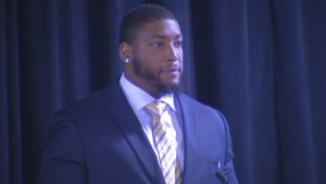 Devon Still Speaks at Cancer Research Conference in Philly