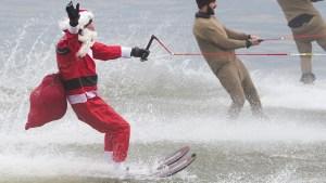 Santas Celebrating Christmas Around the World