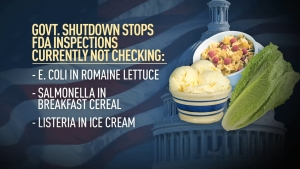 FDA Stalls Food Inspections Due to Government Shutdown